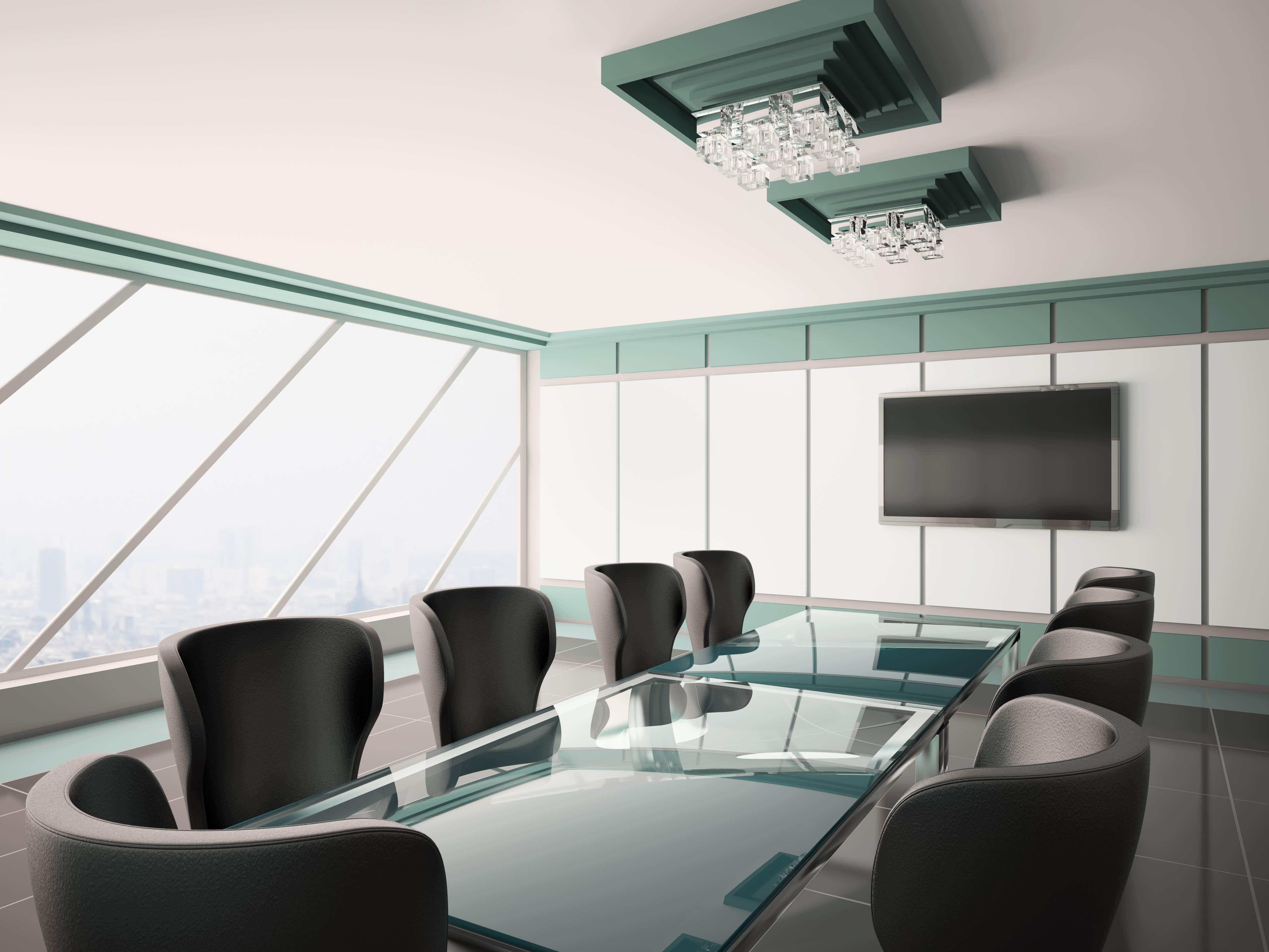 glass confrencce table